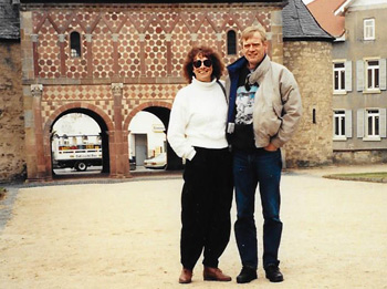 Julie and Rudi in Lorsch, Germany, 1990