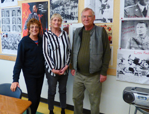 Julie and Rudi with classroom teacher at (school name)