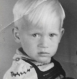 Rudi as a young boy