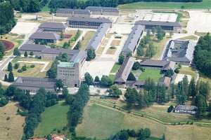 Aerial view of what was the Adolf Hitler Schule in Sonthofen, Germany