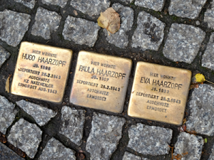 Berlin stumbling stones for the Haarzopf family