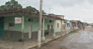 A typical residential area in Remedios, Cuba