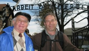 Jack Adler (left) is featured in the movie, Surviving Skokie. His son Eli Adler co-directed it with Blair Gershkow
