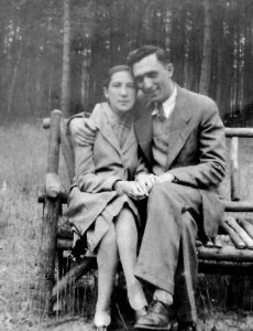 Julie's mother Mathilda Gruber Conan and her father Abraham Conan about 1928, New York